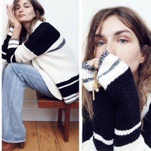 Madewell Jessa Striped Cocoon Cardigan